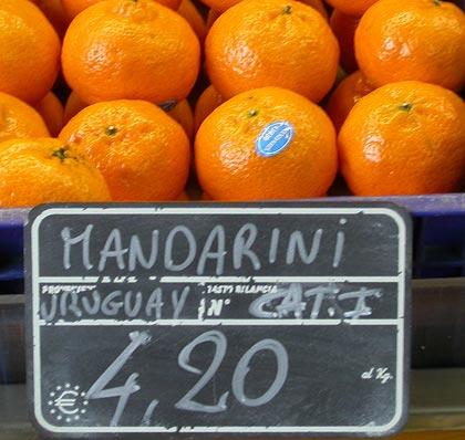 Mandarini provenienti dall\'Uruguay