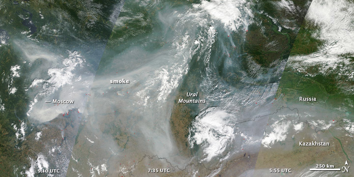 Fire and Smoke in Western Russia - NASA - Flickr