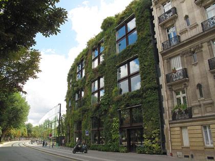 Cartoline da Parigi, il giardino verticale del Musée du quai Branly