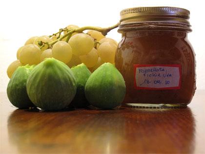 Conservare frutta e verdura, marmellata di fichi e uva