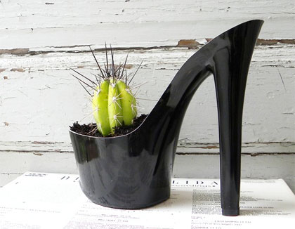 Devil Woman. stiletto cactus planter
