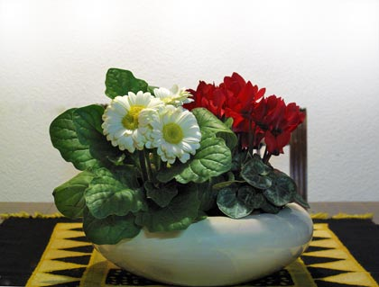 Centrotavola tricolore