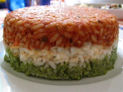 tortino di riso patriottico